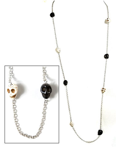 Black and White Skulls Necklace