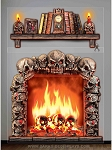 Scary Fireplace and Mantle Giant Wall Decorations