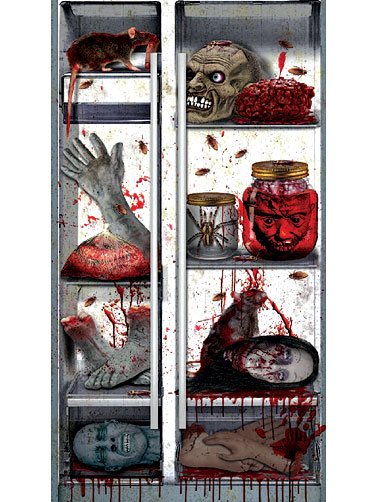 Creepy Kitchen Refrigerator Door Decoration Scary