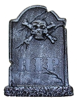Skull and Crossbones Tabletop Tombstone Prop