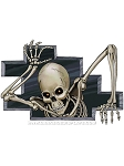 Evil Skeleton Breakout Cling