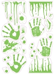 Glow In Dark Handprints Wall Art