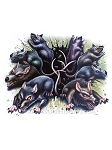 Horror Rats Window Cling