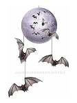 Moon and Bats Cut-Outs Mobile