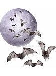 Moon and Bat Cut-Outs