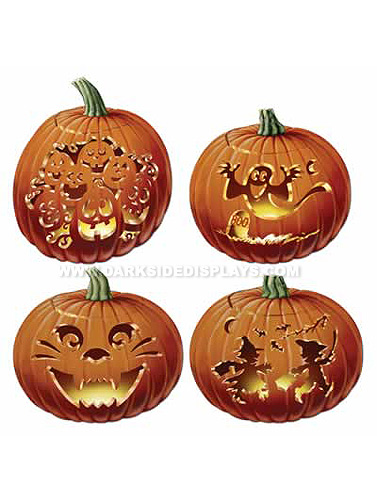 Carved Pumpkin Cut-Outs