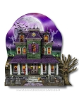 3D Haunted House Cut-Out Centerpiece
