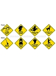 Halloween Road Signs Cut-Outs