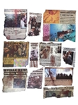 Zombie Apocalypse Newspaper Clipping Cut-Outs