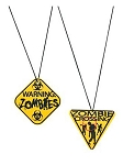 Zombie Warning Sign Necklaces
