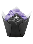 Skulls and Scrolls Fancy Baking Cups