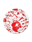 Bloody Handprint Paper Plates