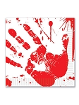 Bloody Handprint Luncheon Napkins