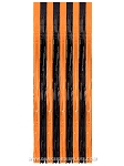 Orange and Black Plastic Curtain