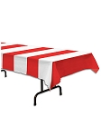 Red and White Stripes Table Cover