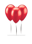 Red Metallic Balloons