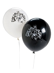 Eerie Spider Web Latex Balloons