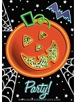 Neon Night Halloween Party Invitations