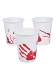 Bloody Handprint Plastic Cups