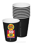 Black 16 Oz Plastic Cups