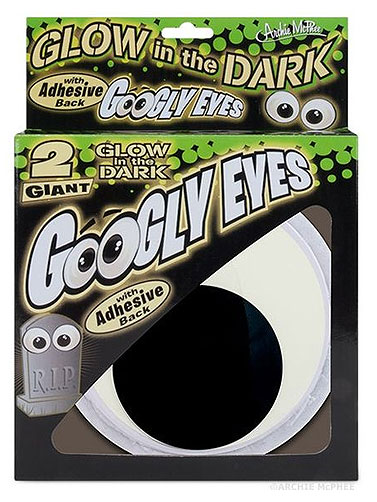 Giant Glow In Dark Googly Eyes