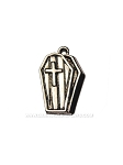 Coffin Pendant Pewter Charm