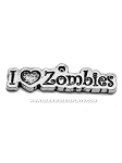 Love Zombies Pewter Charm