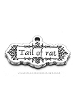 Tail of Rat Pewter Charm