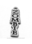 Vertical Zombie Pewter Charm