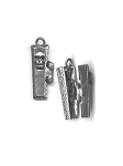 Hinged Coffin Pewter Charm