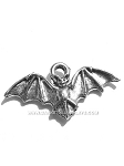 Halloween Bat Wings Up Pewter Charm