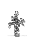Scarecrow with Birds Pewter Charm