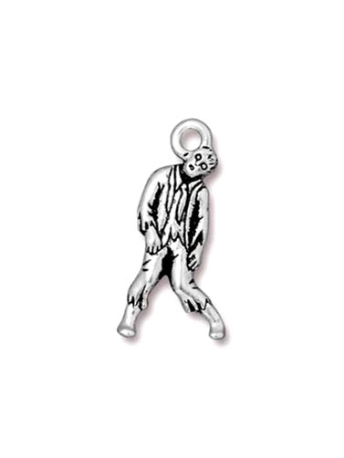 Walking Zombie Pewter Charm