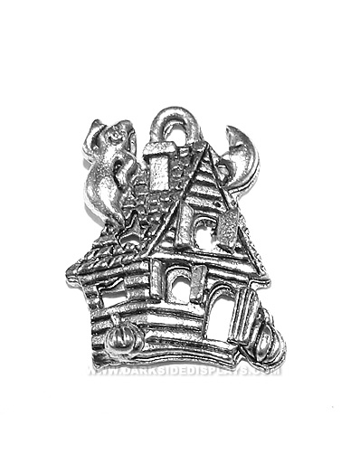 Haunted House Pewter Charm