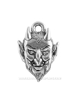 Halloween Devils Face Pewter Charm