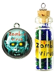 Tis The Season Zombie Virus Charm Set