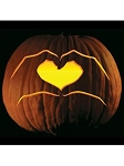 Heart Hands Pumpkin Tattoo Pattern