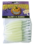 Large Glow In Dark Pumpkin Fang Teeth