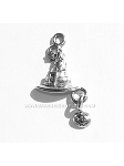 Halloween Witch Hat Pewter Charm