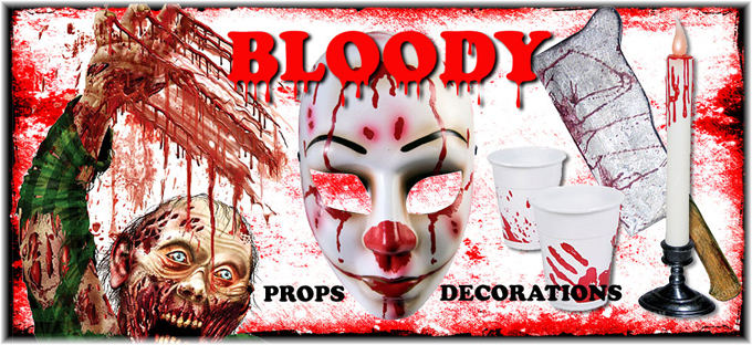 Bloody Halloween Props and Decorations