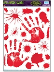 Bloody Handprint Cling