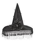 Elegant Fringed Witch Hat