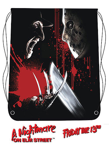 Freddy Vs Jason Drawstring Bag