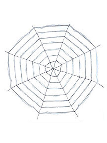 Giant Fabric Spider Web
