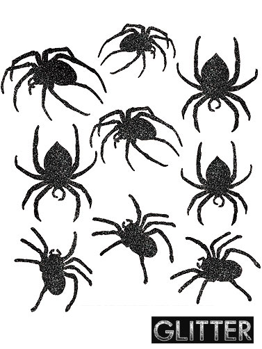Glitter Spider Cut-Outs