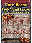 Bloody Tile Wall Gore Decor Backdrop