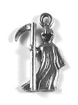 Grim Reaper Pewter Charm