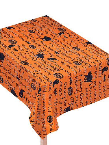 Wicked Words Fabric Table Cover
