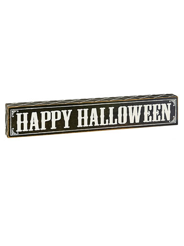 Happy Halloween Wood Sign