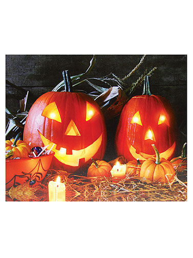 Jack-O-Lanterns Light-Up Canvas Art